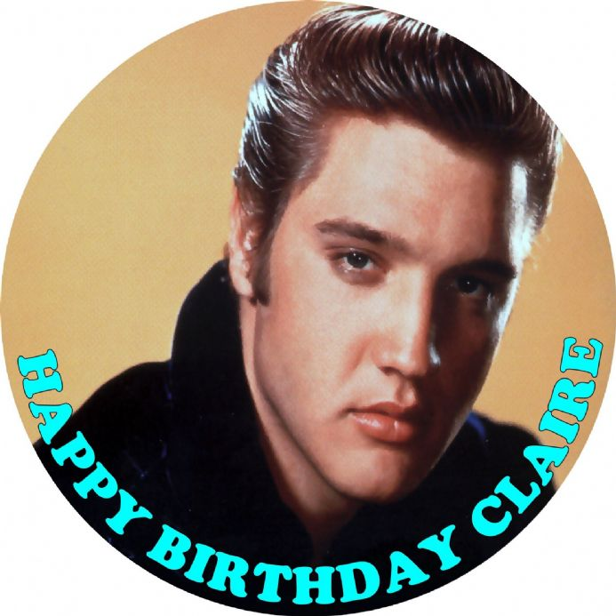 Elvis Edible Cake Topper